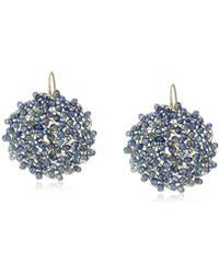 """Kenneth Cole - """"woven"""" Woven Faceted Bead Round Drop Earrings - Lyst"""
