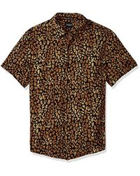 1f25867a67465 Guess - Short Sleeve Spotted Leopard Print Shirt - Lyst