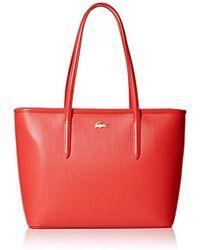 Lacoste - Medium Zip Shopping Bag, Nf2116ce - Lyst