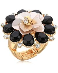 Guess - S Flower Cocktail Ring - Lyst
