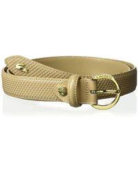 f0a802e0a21d22 Lyst - Lacoste Premium Leather Belt Cutout Buckle in Black