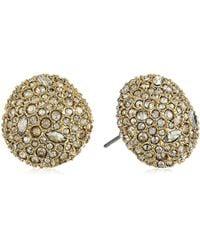 Alexis Bittar - Organic Pod Shape Crystal Encrusted Button Post 10k Plating Stud Earrings - Lyst