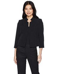 Kasper - Petite Inverted Notched Collar Pinstripe Fly Away Jacket - Lyst