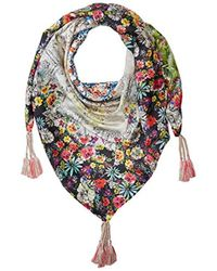 Johnny Was - Patterned Silk Square Scarf With Tassels, Multi, O/s - Lyst