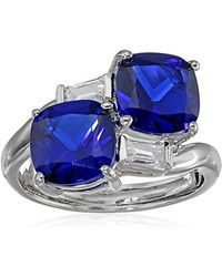 CZ by Kenneth Jay Lane - Trend 6cttw Double Cushion-cut Cubic Zirconia Ring - Lyst
