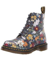 6318818c0f88 Dr. Martens - Dr. Martens 1460 Pascal Womens Darcy Floral Navy Boots - Lyst