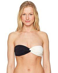 Mara Hoffman - Chey Twist Front Bikini Top Swimsuit - Lyst