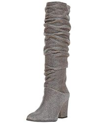 35451a46d9a Lyst - Stuart Weitzman Smashing Leather Knee-high Boots in Gray