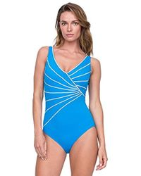 Gottex - Piped Surplice One Piece Swimsuit - Lyst