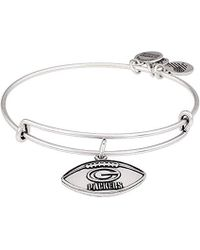ALEX AND ANI - Green Bay Packers Football Expandable Bangle Bracelet - Lyst