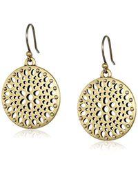 Lucky Brand - S Two-tone Openwork Drop Earrings - Lyst