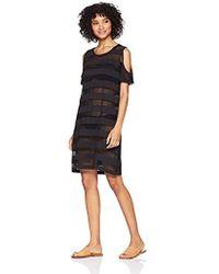 e687c3e69f238 Calvin Klein - Cold Shoulder Swimsuit Cover Up Dress - Lyst
