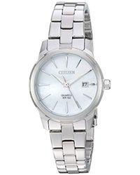 Citizen - ' Quartz Stainless Steel Casual Watch, Color:silver-toned (model: Eu6070-51d) - Lyst