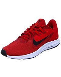 fd506ede999653 Nike - Downshifter 9 Sneaker Gym Black-university Red-white