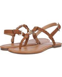 8bb9c2f0dd9bb8 Lyst - Tommy Hilfiger Hariet Flat Sandals in Natural