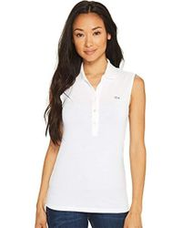 Lacoste - Classic Sleeveless Slim Fit Polo - Lyst