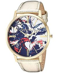 Vince Camuto - Vc/5322flgd Gold-tone Leather Strap Watch - Lyst