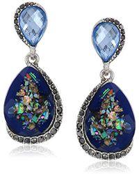 Napier - Blue Multicolored Double Drop Earrings - Lyst