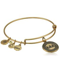 ALEX AND ANI - Sorority Delta Delta Delta Expandable Rafaelian Gold-tone Wire Bangle Bracelet - Lyst