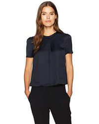 Armani Jeans - Side Overlay Blouse - Lyst