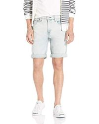 9b0dca3c Levi's 502 Regular Taper Long Shorts in Blue for Men - Lyst