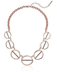 T Tahari - S Essentials Linked Ovals Necklace, Rose Gold, One Size - Lyst