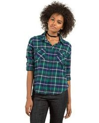 Volcom - New Flame Long Sleeve Flannel Vintage Inspired Shirt - Lyst
