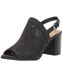 72161e151 Lyst - Dune Marcia Jewelled Leather Block-heel Sandals in Black