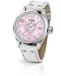TW Steel - ' Volante' Quartz Stainless Steel And Nylon Dress Watch, Color:white (model: Tw972) - Lyst