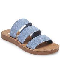 5722ef2dfef1 Lyst - Steve Madden Womens Commma Flat Sandals in Black
