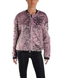 Guess - Long Sleeve Penny Fur Bomber Jacket - Lyst