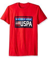 b028e2c63 Dolce & Gabbana. U.S. POLO ASSN. - Short Sleeve Chest Plate Logo Crew Neck T -shirt -