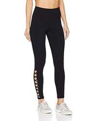 Calvin Klein - High Waist Lower Side Lattice Detail Full Length Legging - Lyst