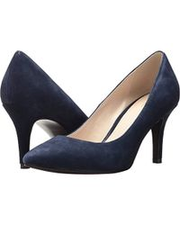 6b9cbe693df7 Lyst - Cole Haan Air Juliana Leather Pumps in Blue