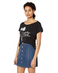 641d89c60 Forever 21 Tiger Mist Shining Water Crop Top in Black - Lyst