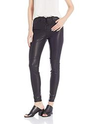 a5e195a4ec8ac Urban Outfitters Silence Noise Vegan Leather Moto Skinny Pants in Black -  Lyst