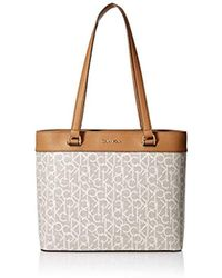 Calvin Klein - Mercy Signature Organizational North south Tote - Lyst 4b35ff21638