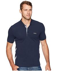 3985c8f2e BOSS Gold Capsule Slim-fit Polo Shirt With S.café in Black for Men ...