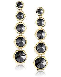 Rachel Zoe - Cleo Gold-plated Pyramid Drop Earrings - Lyst