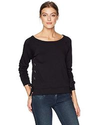 Bailey 44 I'm Out Of The Office Side Lace Up Top - Black