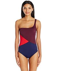 6c0d084cc5 Nautica - Topsail Shoulder One Piece Swimsuit - Lyst