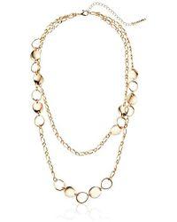 T Tahari - Circles Chain Necklace - Lyst