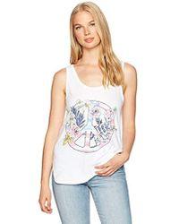 O'neill Sportswear - Floral Peace Screen Print Tank - Lyst