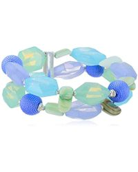 Napier - Multi Tone Bead Stretch Bracelet - Lyst