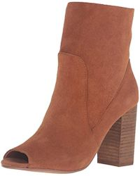 Chinese Laundry Tom Girl Peep Toe Boot - Brown