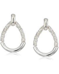 Napier - Silver Tone Doorknocker Stud Earrings - Lyst
