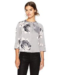b8bd487e7be21 Armani Jeans - Macro Floral All Over Printed Blouse - Lyst
