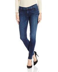 Hudson Jeans - Krista Ankle Super Skinny Distressed 5 Pocket Jeans - Lyst