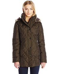London Fog - Packable Down Quilted Coat - Lyst