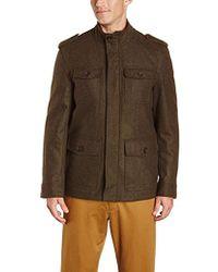 Tommy Hilfiger - Wool-blend Melton Military Jacket - Lyst